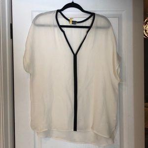 VINCE silk blouse size XL.